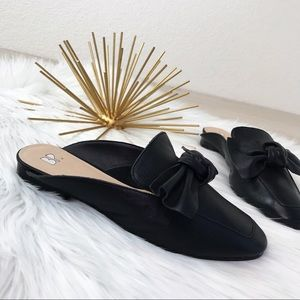 BP / Urban Outfitters Mandy  Black Mule Bow 7M